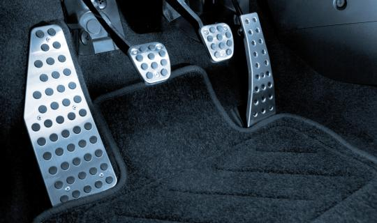 Car brake and gas pedals